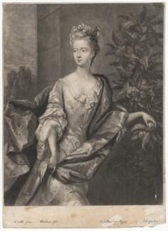 Lady Katherine Hyde, by William Faithorne Jr, after  Michael Dahl - NPG D3132