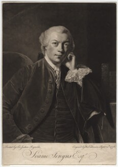 Soame Jenyns, by William Dickinson, after  Sir Joshua Reynolds - NPG D3169
