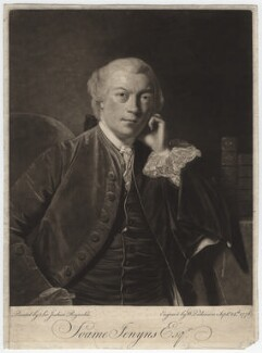 Soame Jenyns, by William Dickinson, after  Sir Joshua Reynolds - NPG D3170