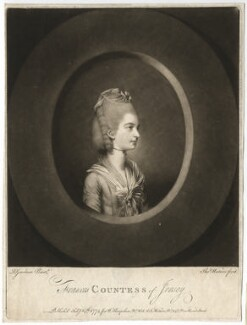 Frances Villiers (née Twysden), Countess of Jersey, by Thomas Watson, after  Daniel Gardner - NPG D3174