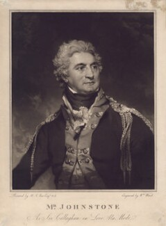 John Henry Johnstone as Sir Callaghan in 'Love a la mode', by William Ward, after  Sir Martin Archer Shee, published 1803 - NPG D3177 - © National Portrait Gallery, London