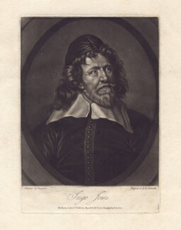 Inigo Jones, by Richard Earlom, published by  Josiah Boydell, after  Sir Anthony van Dyck - NPG D3187