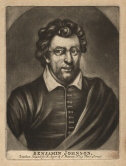 Benjamin ('Ben') Jonson, published by Robert Sayer, published by  John Bennett, after  Gerrit van Honthorst, after  Abraham van Blyenberch - NPG D3191