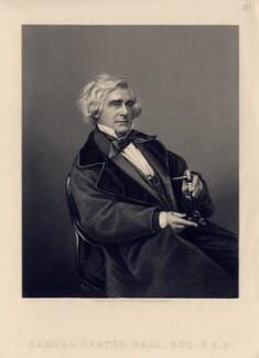 Samuel Carter Hall, by Daniel John Pound, after a photograph by  John Jabez Edwin Mayall - NPG D3198