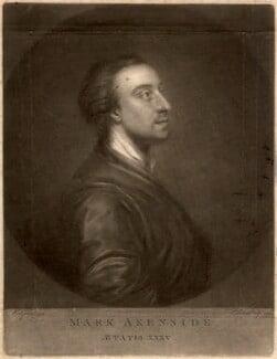 Mark Akenside, by Edward Fisher, after  Arthur Pond, 1772 (1754) - NPG D320 - © National Portrait Gallery, London