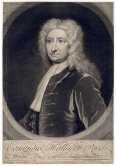 Edmond Halley, by and published by George White, after  Sir Godfrey Kneller, Bt - NPG D3202