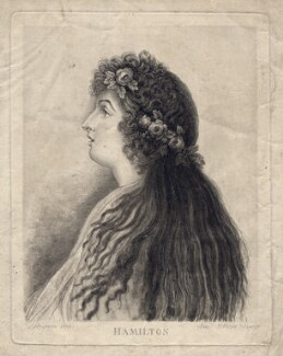 Emma Hamilton, by Vincenzo Aloja, after  Charles Grignion - NPG D3203