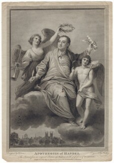 George Frideric Handel ('Apotheosis of Handel'), by James Heath, after  Biagio Rebecca - NPG D3206