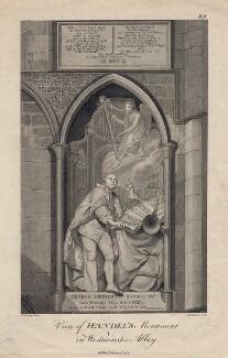 George Frideric Handel, by Jean Marie Delattre, after  Louis François Roubiliac - NPG D3212
