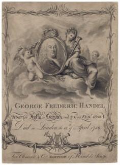 George Frideric Handel, by Francesco Bartolozzi, after  Giovanni Battista Cipriani - NPG D3219