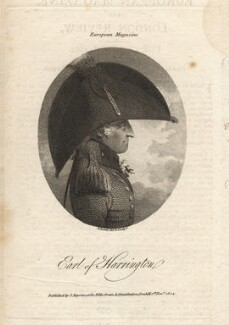 Charles Stanhope, 3rd Earl of Harrington, by Samuel Rawle, published by  James Asperne - NPG D3229