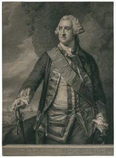 Edward Hawke, 1st Baron Hawke, by John Hall, after  Francis Cotes - NPG D3233