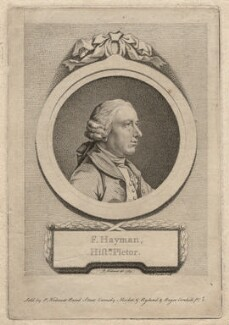 Francis Hayman, by D.P. Pariset, after  Pierre-Étienne Falconet - NPG D3239