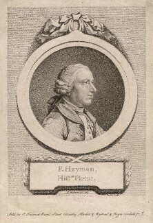 Francis Hayman, by D.P. Pariset, after  Pierre-Étienne Falconet - NPG D3240