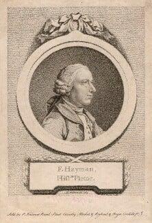 Francis Hayman, by D.P. Pariset, after  Pierre-Étienne Falconet, 1769 - NPG D3240 - © National Portrait Gallery, London