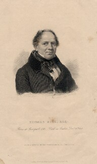 Thomas Hill, by Joseph Brown, published by  Richard Bentley, after  John Linnell - NPG D3256