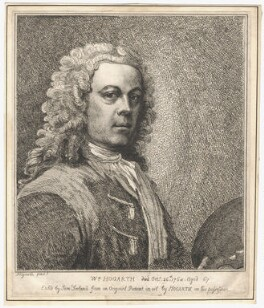 William Hogarth, by Samuel Ireland, after  William Hogarth - NPG D3258