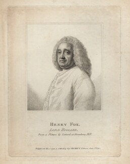 Henry Fox, 1st Baron Holland, published by Silvester (Sylvester) Harding, published by  Peter Brown, after  Jean Etienne Liotard - NPG D3261
