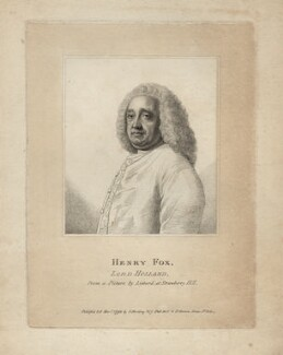 Henry Fox, 1st Baron Holland, published by Silvester Harding, published by  Peter Brown, after  Jean Etienne Liotard - NPG D3262