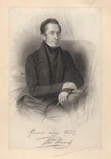 Thomas Hood, by William Holl Jr, after  Thomas Lewis - NPG D3266