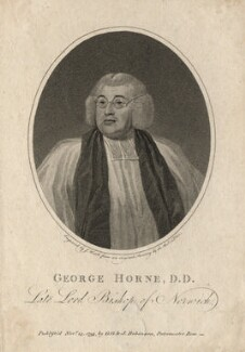 George Horne, by James Heath, after  Reverend Thomas Olive - NPG D3272