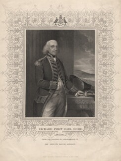 Richard Howe, 1st Earl Howe, by John Henry Robinson, published by  John Tallis & Company, after  Thomas Gainsborough - NPG D3276