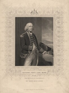 Richard Howe, 1st Earl Howe, by John Henry Robinson, published by  London Printing and Publishing Company Limited, after  Thomas Gainsborough - NPG D3277