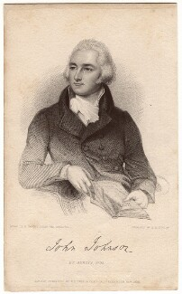 John Johnson, by John Henry Robinson, published by  Baldwin & Cradock, after  Lemuel Francis Abbott - NPG D3314