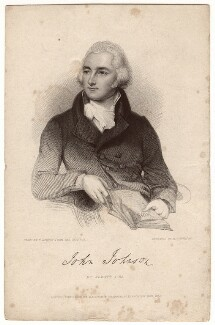 John Johnson, by John Henry Robinson, published by  Baldwin & Cradock, after  Lemuel Francis Abbott - NPG D3315