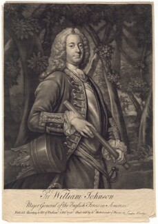 Sir William Johnson, 1st Bt, by Charles Spooner, sold by  William Herbert, after  T. Adams - NPG D3318