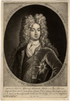 Arnold Joost van Keppel, 1st Earl of Albemarle, by Pieter Schenck, after  Unknown artist, published 1703 - NPG D332 - © National Portrait Gallery, London