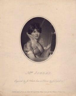 Dorothy Jordan, by James Heath, after  John Russell, published 1802 - NPG D3323 - © National Portrait Gallery, London