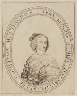 Elizabeth Hastings (née Stanley), Countess of Huntingdon, after an engraving by William Marshall - NPG D3344