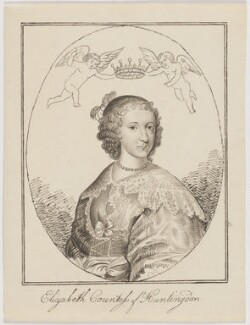Elizabeth Hastings (née Stanley), Countess of Huntingdon, after an engraving by William Marshall - NPG D3345