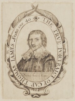 Thomas James ('The true portraict of Captain Thomas James'), by Unknown artist, circa 1633 - NPG D3349 - © National Portrait Gallery, London