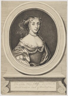 Lady Mary Jolliffe (née Hastings), by John Brand, after an engraving by  Robert White - NPG D3354