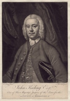 John Keeling, by James Macardell, after  Thomas King, 1756 - NPG D3358 - © National Portrait Gallery, London