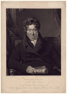 Michael Kelly, by Charles Turner, published by  William Sams, after  James Lonsdale - NPG D3361