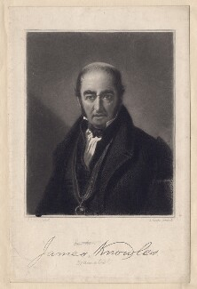 James Knowles, by James Scott, after  George Lance - NPG D3379