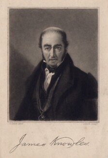 James Knowles, by James Scott, after  George Lance - NPG D3380