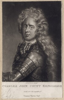 Charles John (Karl Johann), Count Konigsmarck, by Robert Dunkarton, after  Unknown artist - NPG D3384