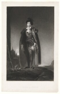 John Philip Kemble as Hamlet, by James Egan, after  Sir Thomas Lawrence - NPG D3395