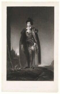 John Philip Kemble as Hamlet, by James Egan, after  Sir Thomas Lawrence, published 1838 (1801) - NPG  - © National Portrait Gallery, London