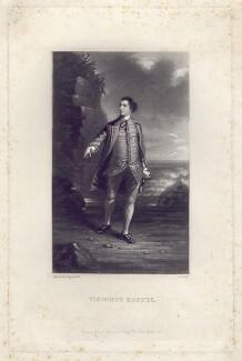 Augustus Keppel, Viscount Keppel, by James Scott, after  Sir Joshua Reynolds - NPG D3406