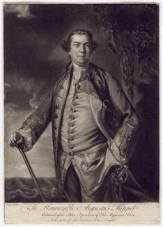 Augustus Keppel, Viscount Keppel, by Edward Fisher, published by  John Bowles, after  Sir Joshua Reynolds - NPG D3407