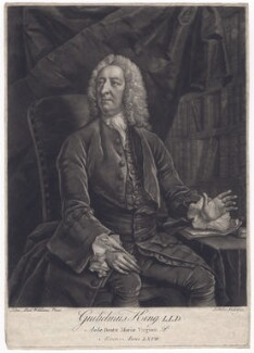 William King, by John Faber Jr, after  John Michael Williams - NPG D3425