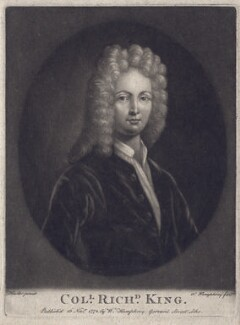 Richard King, by William Humphrey, after  Sir Godfrey Kneller, Bt - NPG D3428