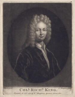 Richard King, by William Humphrey, after  Sir Godfrey Kneller, Bt - NPG D3430