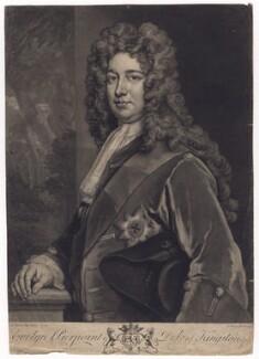 Evelyn Pierrepont, 1st Duke of Kingston, by John Faber Jr, after  Sir Godfrey Kneller, Bt - NPG D3432