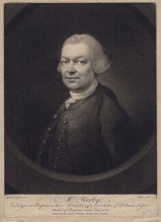 John (John) Joshua Kirby, by John Dixon, sold by  Ryland and Bryer, after  Thomas Gainsborough - NPG D3434